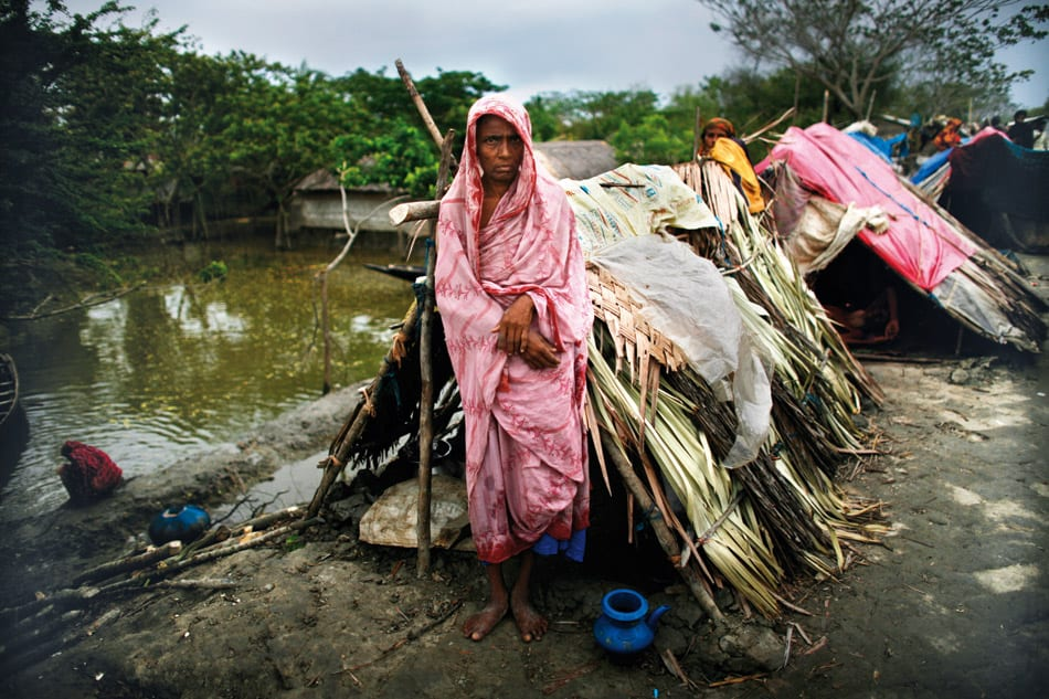 The coastal peoples are going to move from shelter to their home
