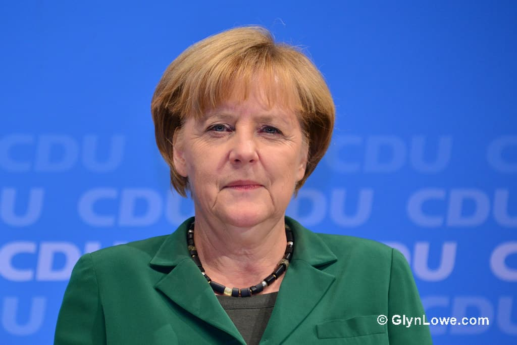 German Chancellor Angela Merkel spoke about environment