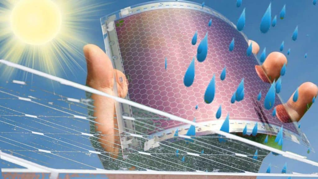 Electricity production from raindrops