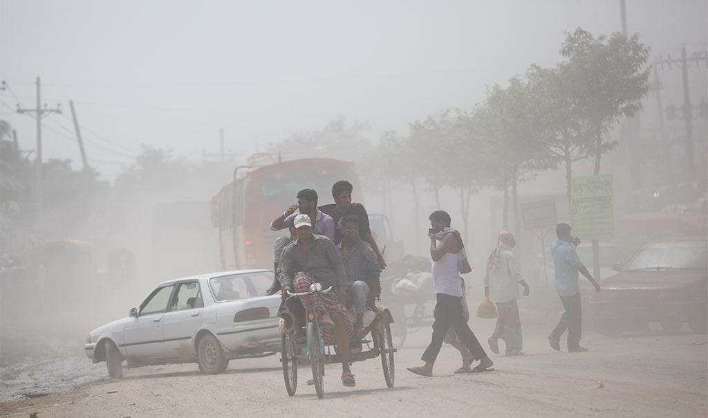 Dhaka is again at the top of the list of the air polluted cities