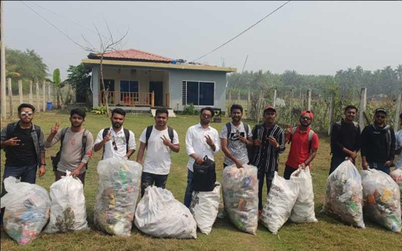 plastic waste clean
