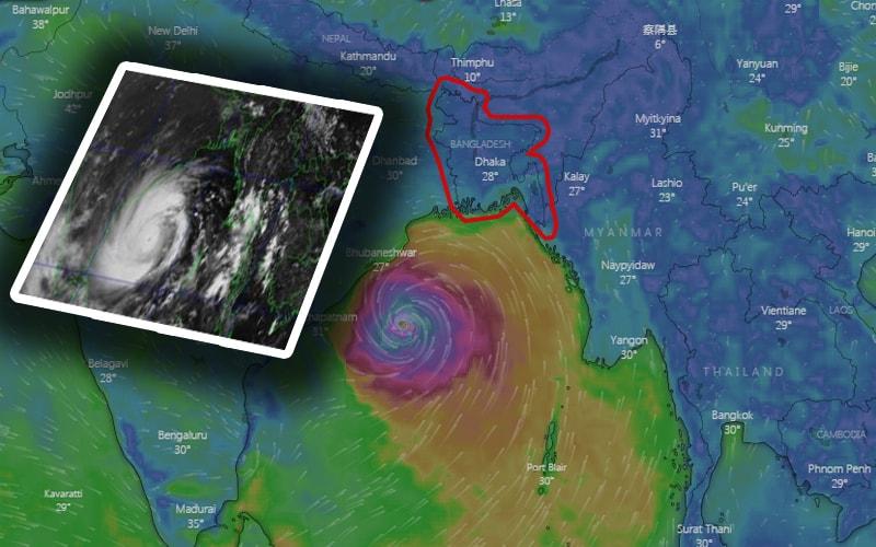 The Super Cyclone Amphan May hit Bangladesh and India (WB, Odisha) coasts at Evening on May 20