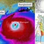 Cyclone Ampan Why the embankments were damage more in Bangladesh in compare to West Bengal