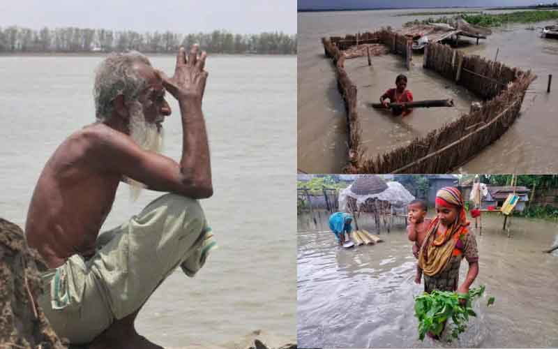 Floods cause Bangladesh Northern Part Devastation
