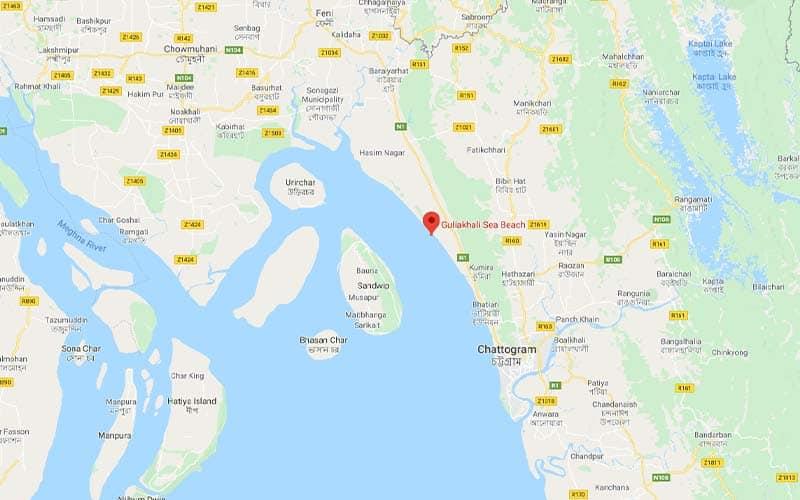 Guliakhali Seabeach google map