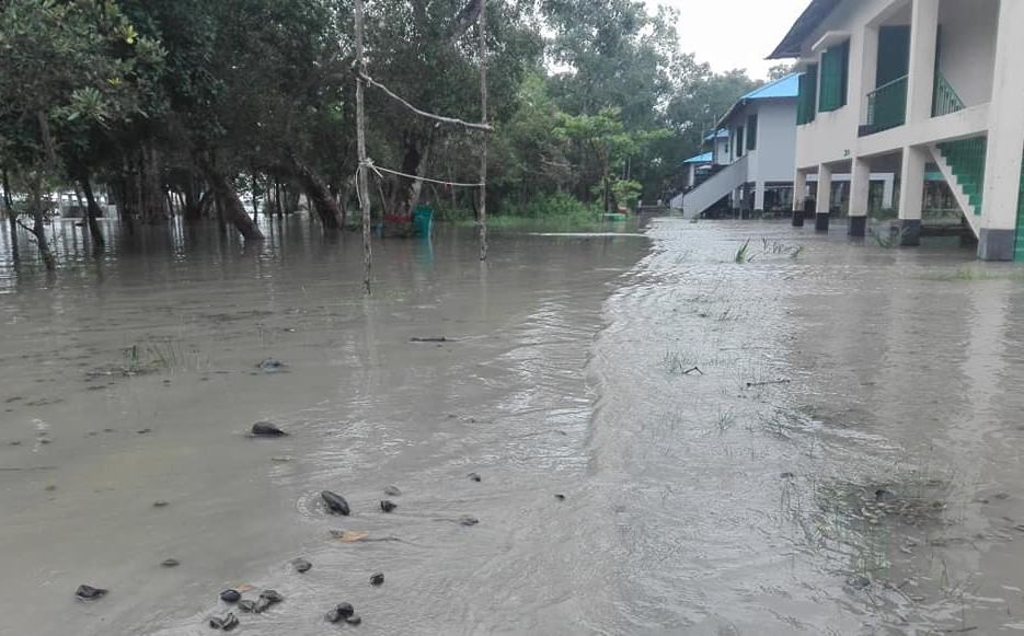 Karmajal Wildlife Breeding Centre Submerged by Tidal Surge and Incessant Rainfall in The Sundarbans