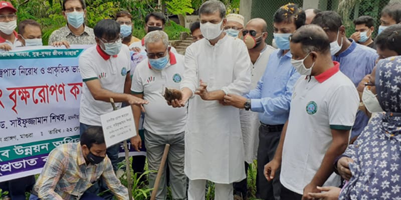 Inauguration of palm seed planting to prevent lightning and maintain the natural balance