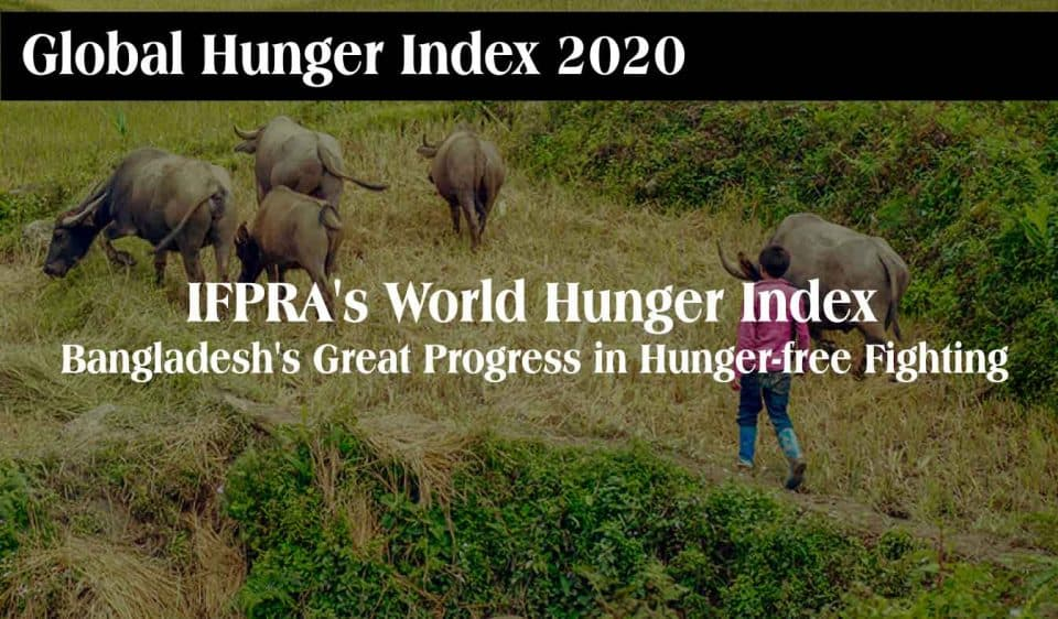 IFPRA's World Hunger Index: Bangladesh's Great Progress in Hunger-free Fighting