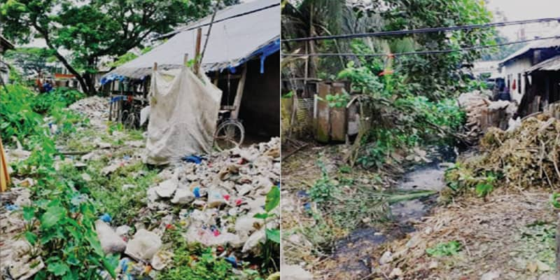 Thirty canals and a river have died due to illegal occupation and pollution in Barishal