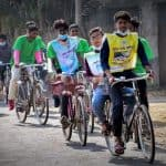 Stop hunting migratory birds; Bicycle rally for public awareness