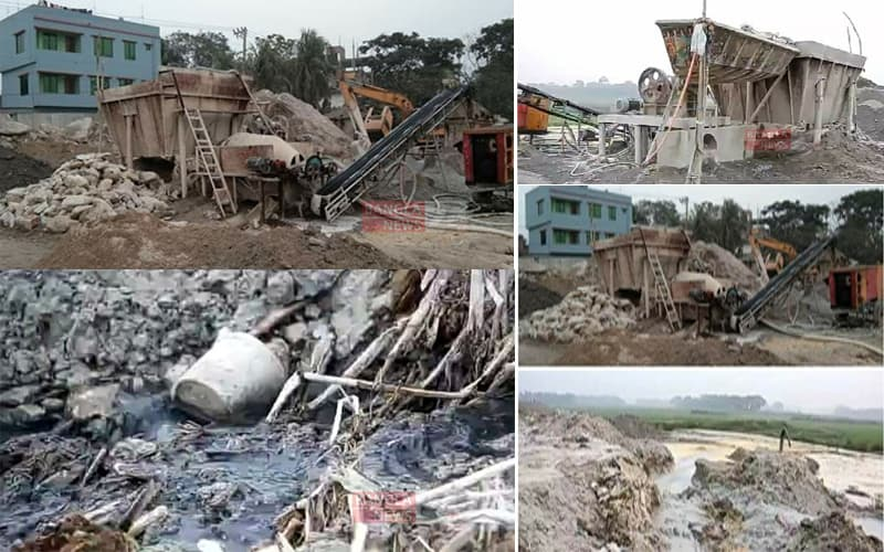 Stone Crushing Factories near Dhaka City Pollute the Local Environment