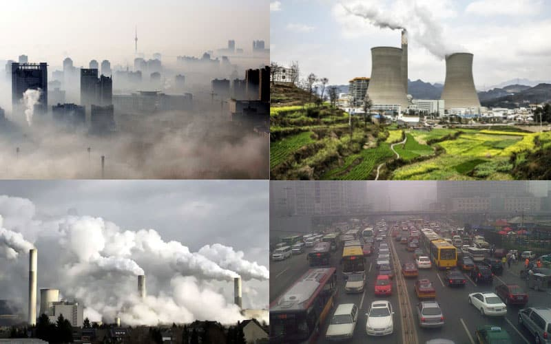 China is the first among all the countries in Greenhouse Gas (GHG) emission