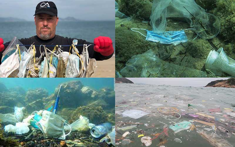 Masks are now polluting the sea