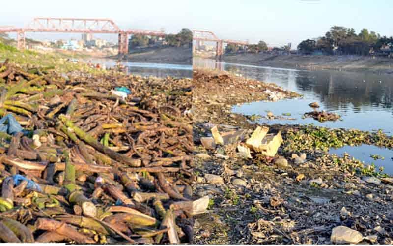 Surma River at Sylhet City in Bangladesh